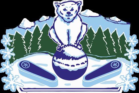 Decal Image: Blizzard Mountain Pinball, Bear mascot