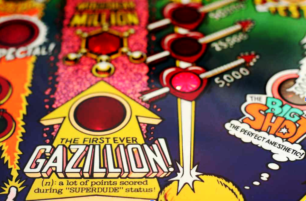 Image: Gazillion Points When Lit. Book a Party at Blizzard Mountain Pinball