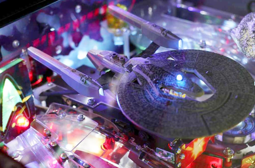 Image: Star Trek Pinball Machine, closeup